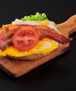 rundstykke egg og bacon