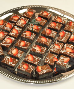 Brownies med bær