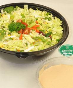 Grønn salat med dressing