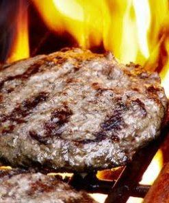 hamburgere på grillen