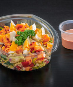 Vegetarsalat med egg og ost