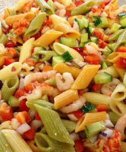 pastasalat med skalldyr