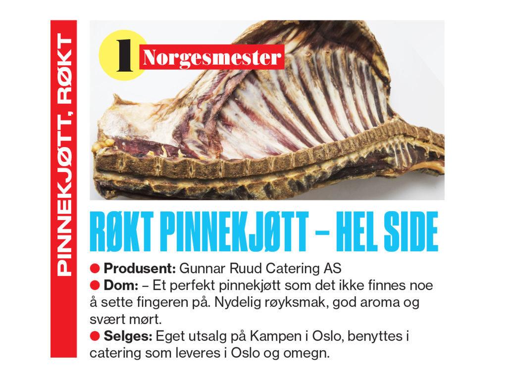 Pinnekjøtt, bilde fra VG Norgesmester