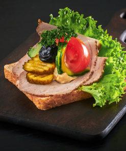 Smørbrød med skinkestek